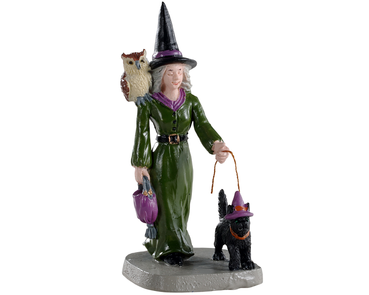 Lemax Spooky Town Witch Shopping # 02906