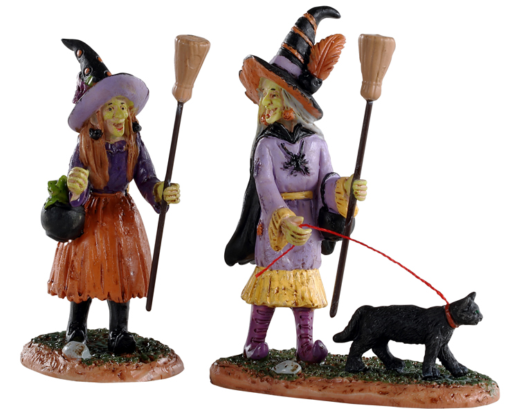 Lemax Spooky Town Witches Night Out Set of 2 # 02907