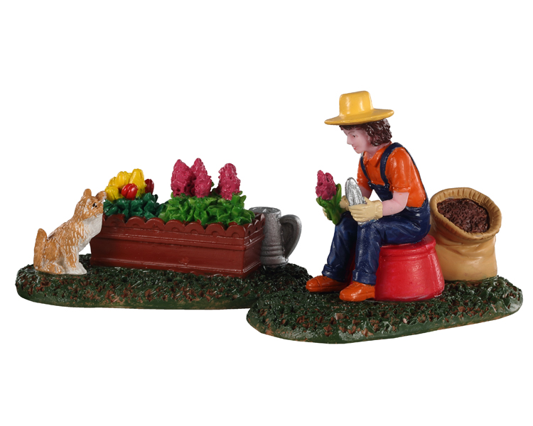 Lemax Village Collection Garden Grooming Set of 2 # 02920