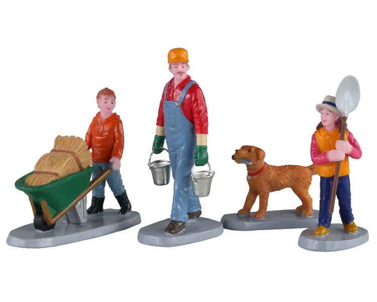 Lemax Village Collection Morning Chores Set of 4 # 02922