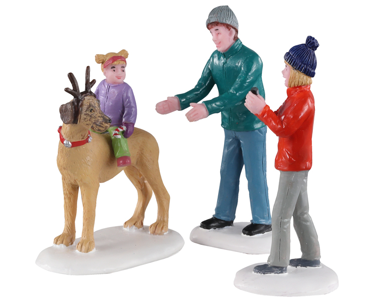 Lemax Village Collection Rover Plays Rudolph Set of 3 # 02923