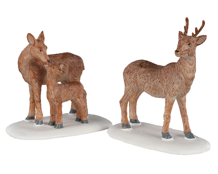 Lemax Village Collection Deer Family Set of 2 # 02929