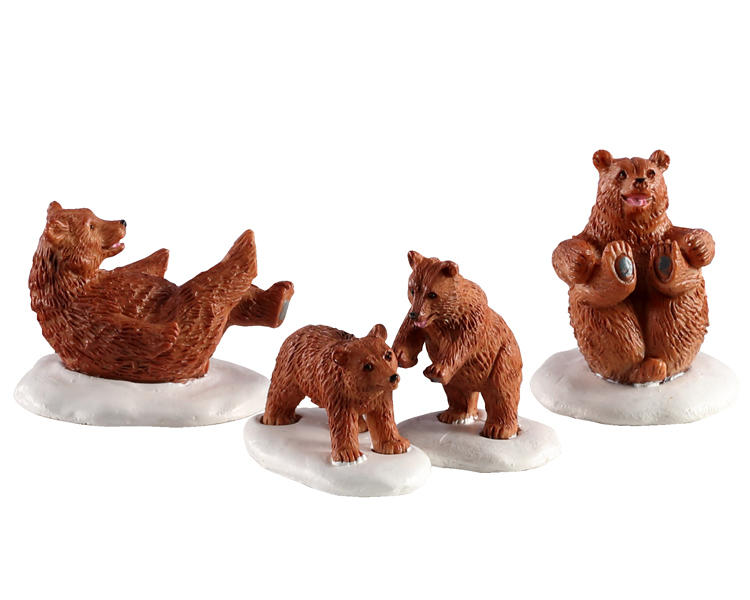 Lemax Village Collection Bear Family Snow Day Set of 4 # 02943