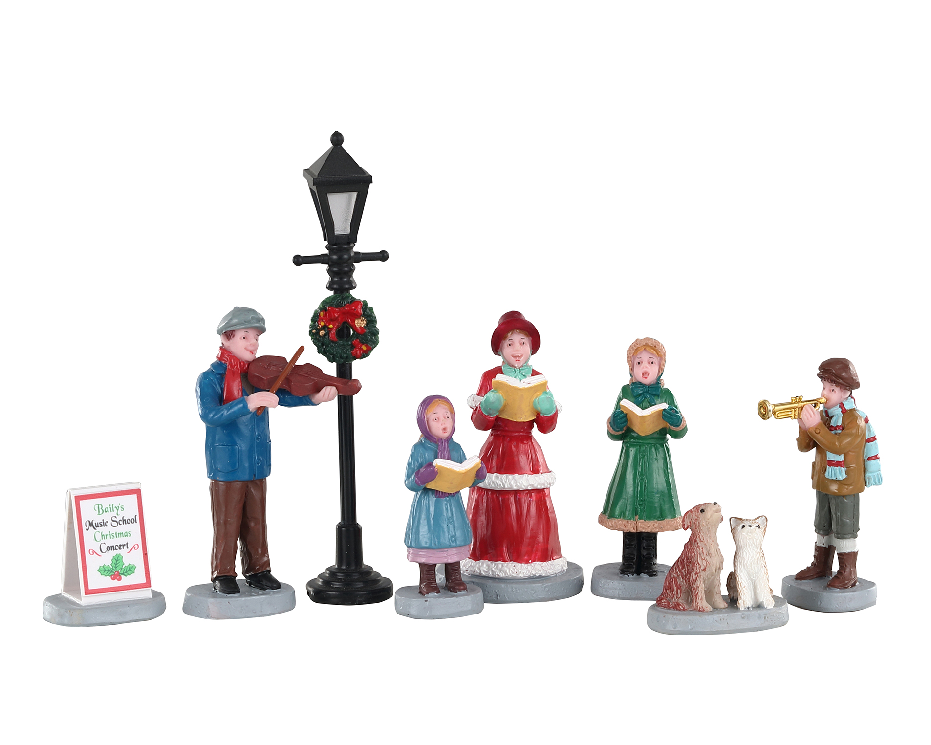 Lemax Village Collection Baily's Music School Carolers Set of 8 # 02949