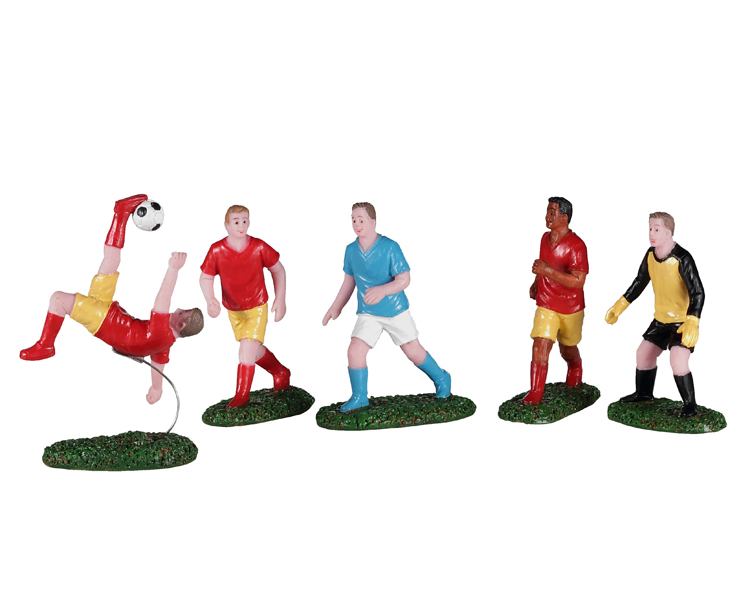 Lemax Village Collection Playing Soccer Set of 5 # 02961