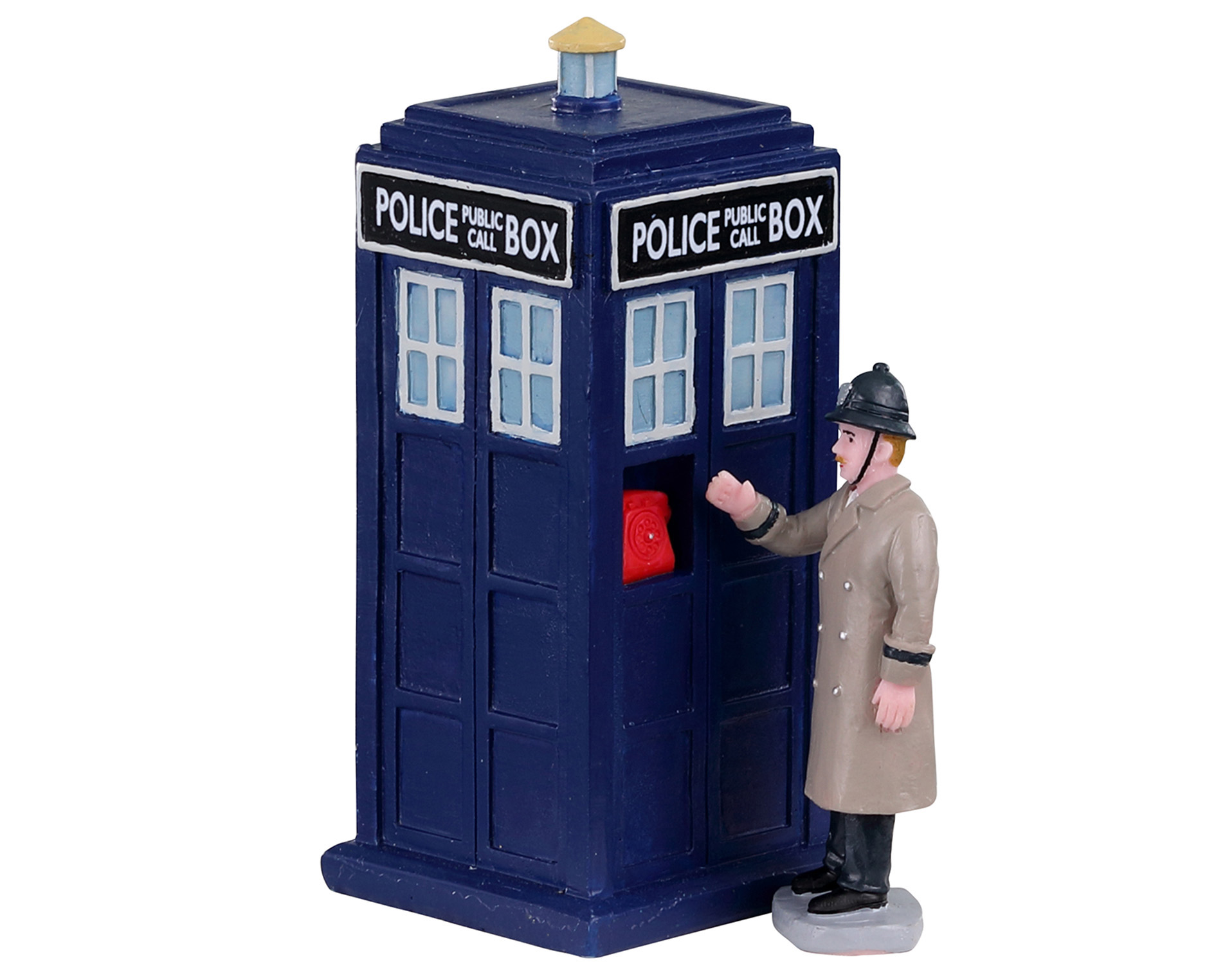 Lemax Village Collection Police Call Box Set of 2 # 03509
