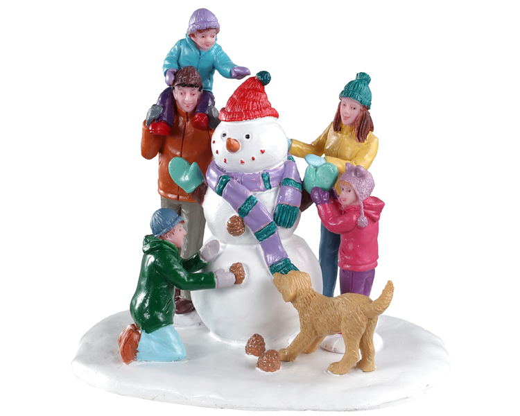 Lemax Village Collection Snowman Teamwork # 03511