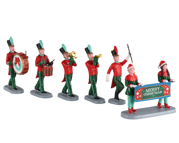 Lemax Village Collection Christmas On Parade Set of 6 # 03515