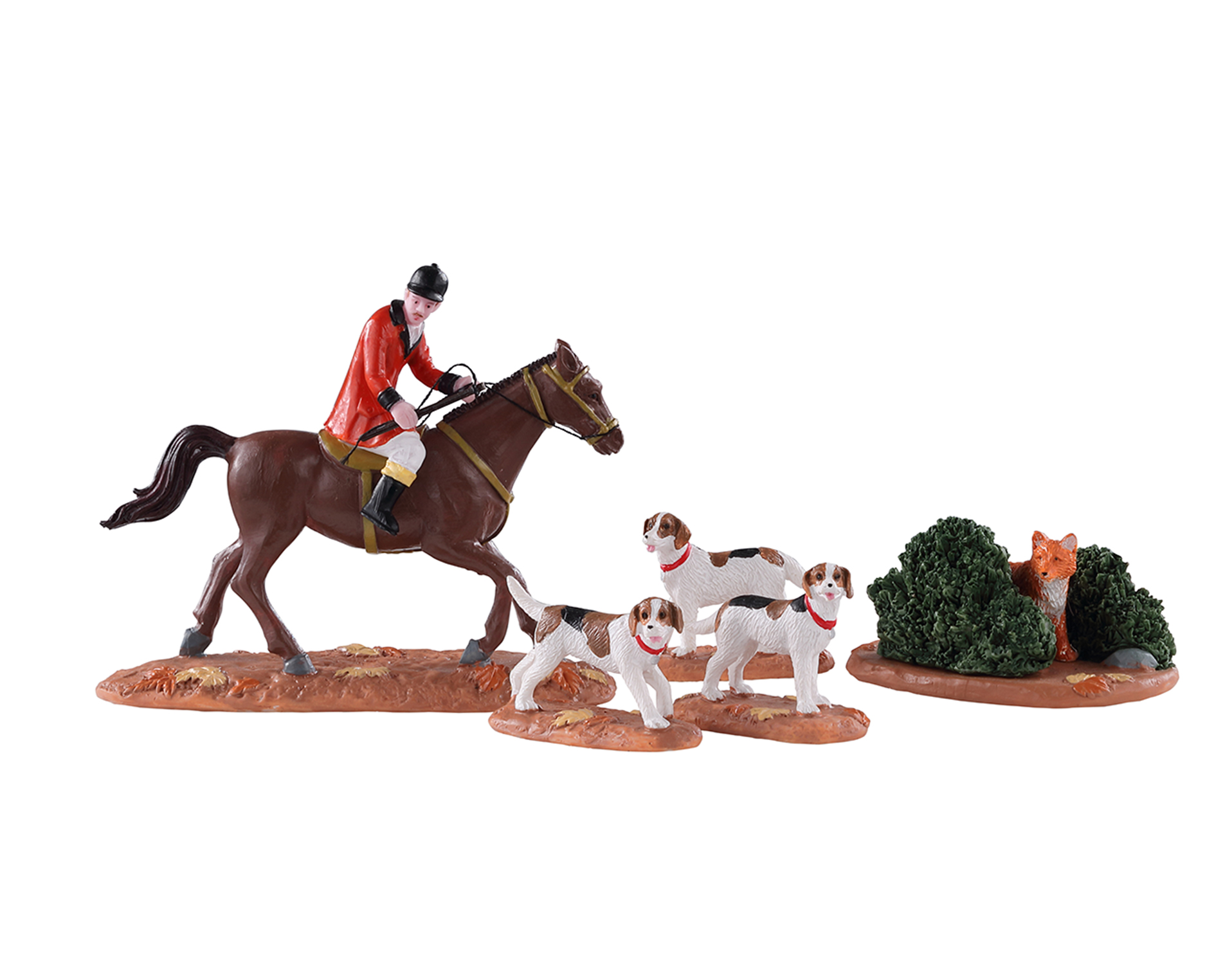 Lemax Village Collection Fox Hunt Set of 5 # 03530