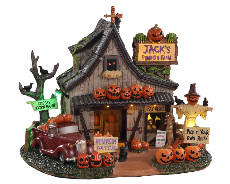Lemax Spooky Town Jack's Pumpkin Farm Battery Operated # 04716