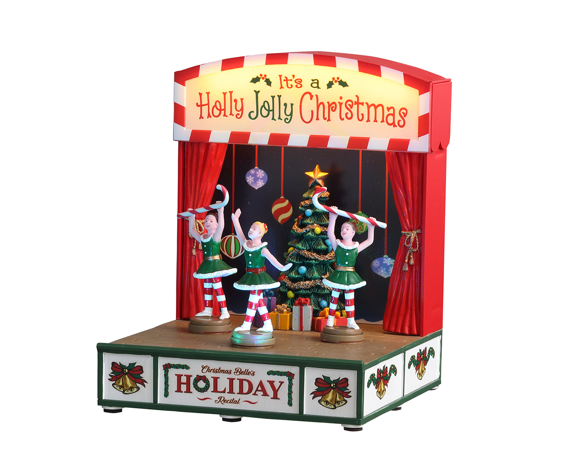 Lemax Village Collection Christmas Belle's Hoilday Recital Battery Operated # 04726