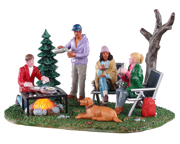 Lemax Village Collection Camping Couples Battery Operated # 04728