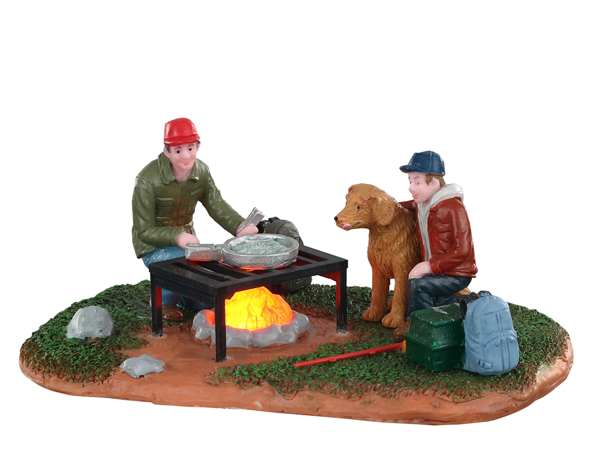 Lemax Village Collection Fish Fry With Dad Battery Operated # 04729