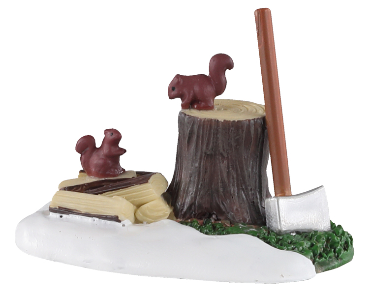 Lemax Village Collection Axe And Logs # 04730
