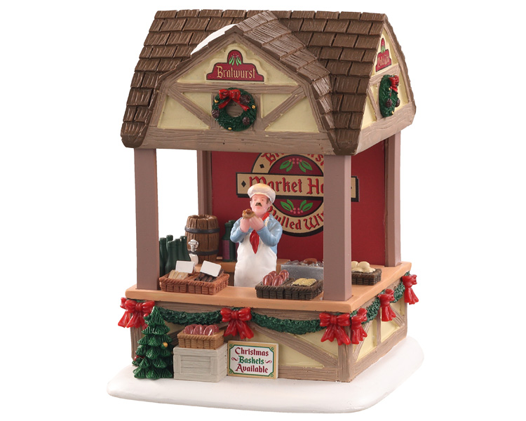 **NO OUTER BOX** Lemax Village Collection Christmas Market Bratwurst Battery Operated # 04735 **READ DESCRIPTION**