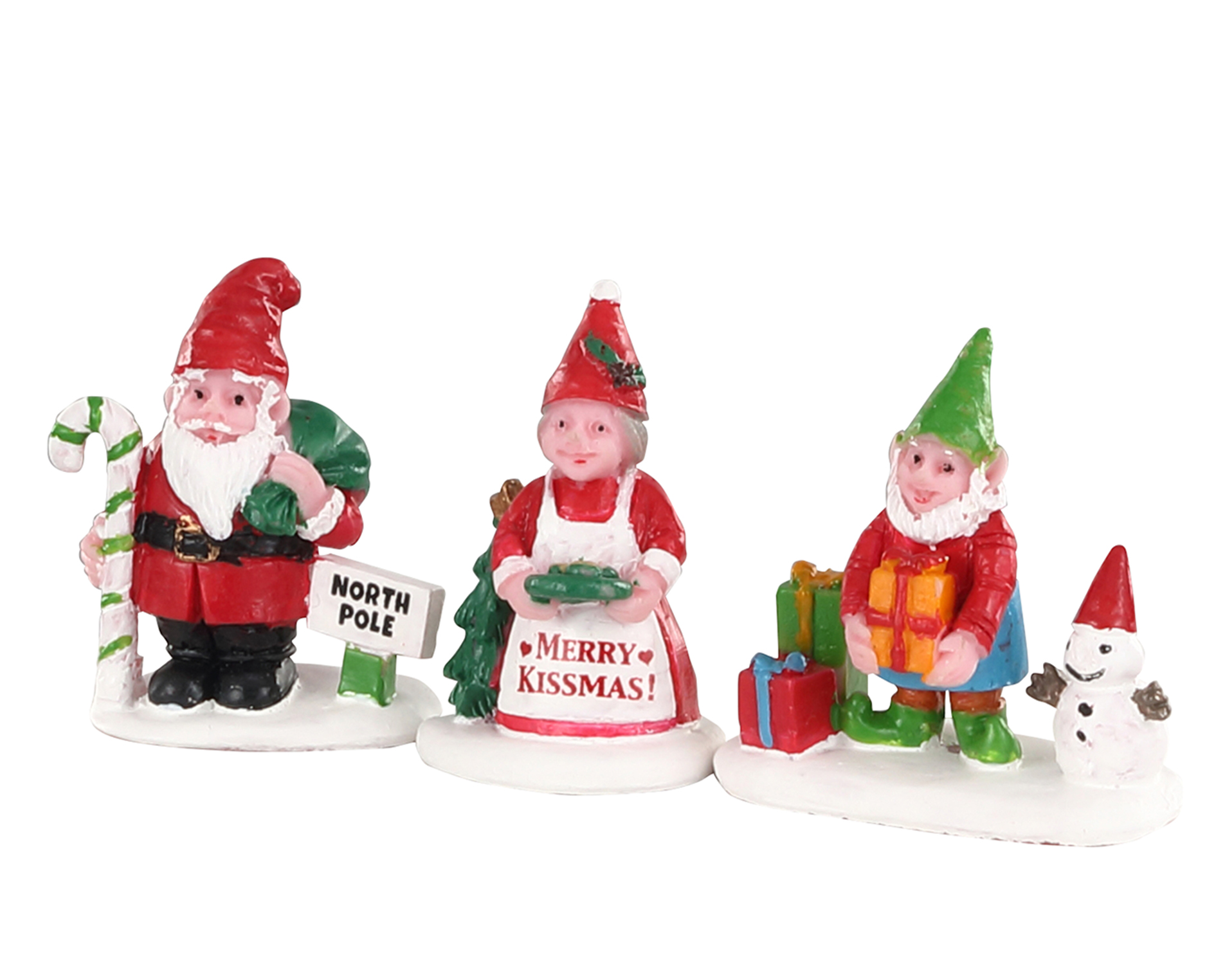 Lemax Village Collection Christmas Garden Gnomes Set of 3 # 04739