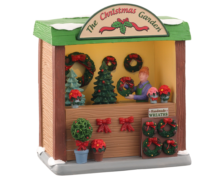 **NO OUTER BOX** Lemax Village Collection The Christmas Garden Battery Operated # 04744 **READ DESCRIPTION**