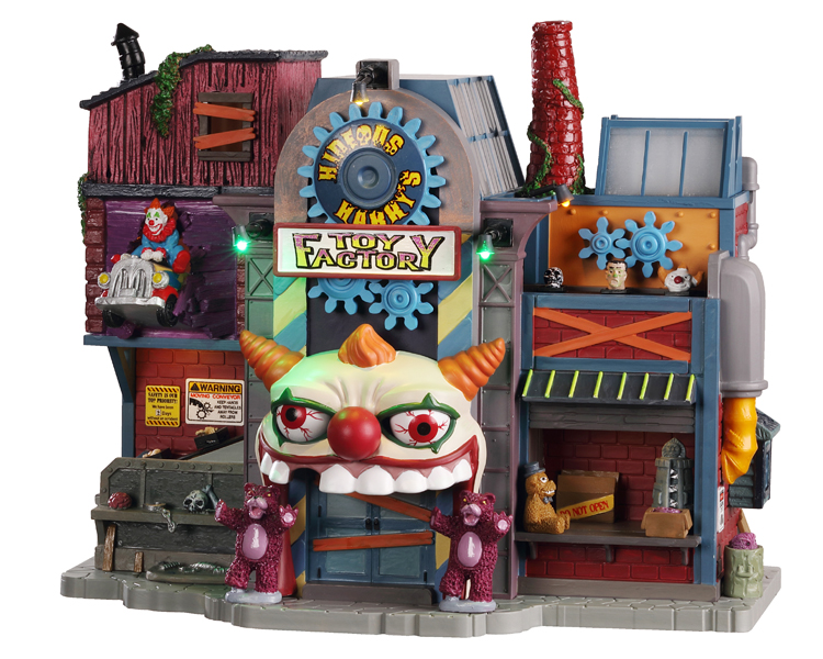 Lemax Spooky Town Hideous Harry's Toy Factory with Adaptor # 05603