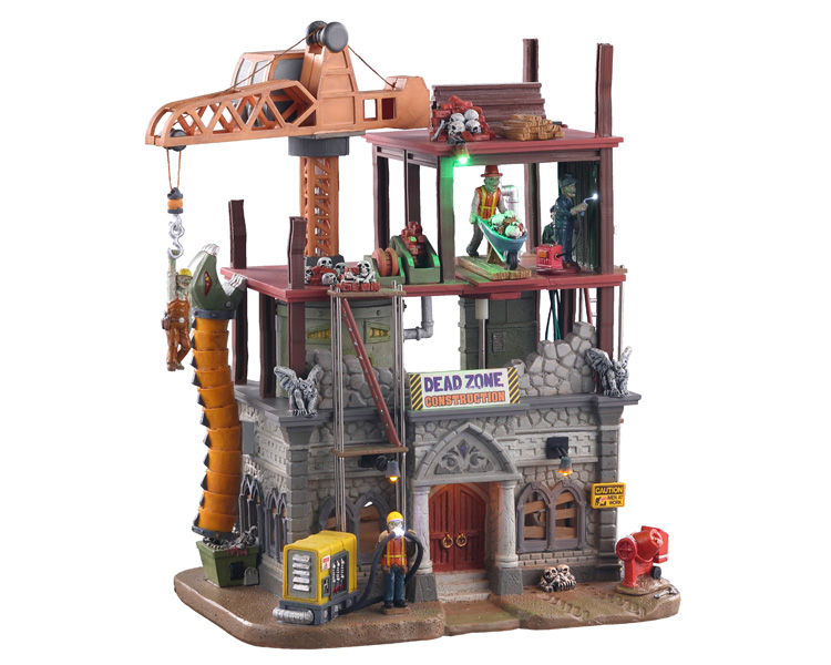 Lemax Spooky Town Dead Zone Construction Site with Adaptor # 05604