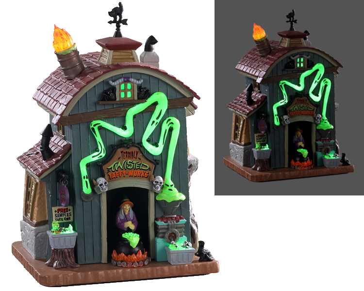 Lemax Spooky Town Terribly Twisted with Adaptor # 05607