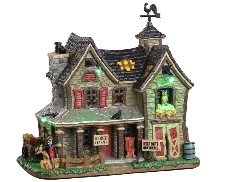 Lemax Spooky Town Frightmore Farm with Adaptor # 05608
