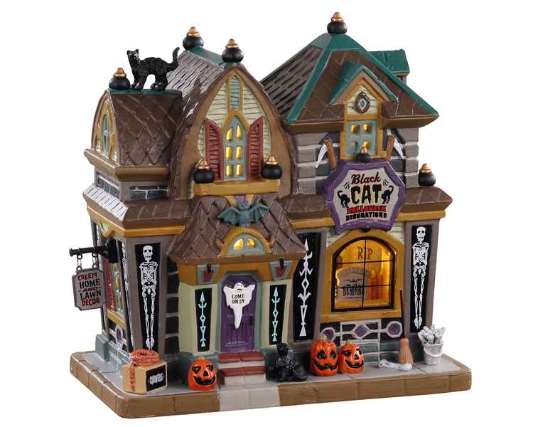 Lemax Spooky Town Black Cat Halloween Decor # 05610