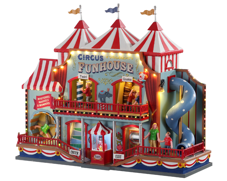 Lemax Village Collection Circus Funhouse with Adaptor # 05616