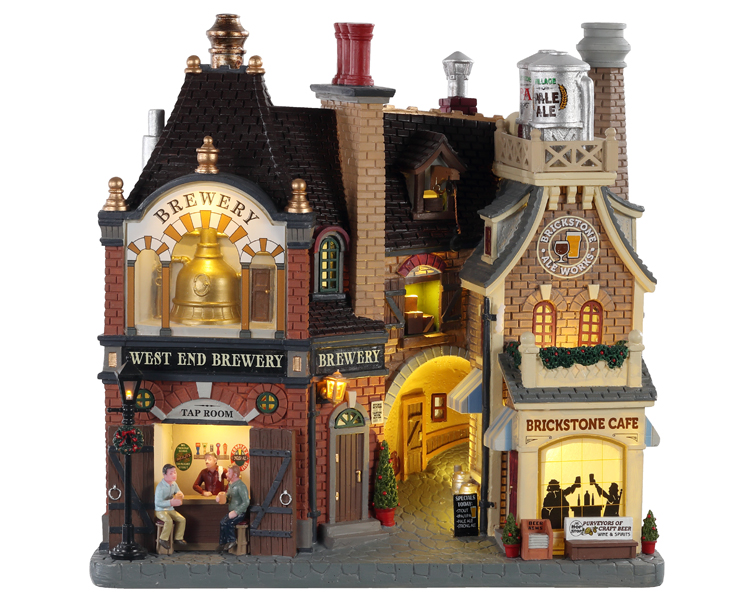 Lemax Village Collection Beersmith Row Facade Battery Operated # 05618