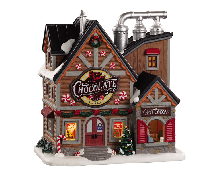 Lemax Village Collection For The Love Of Chocolate Shop # 05621