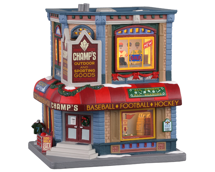 Lemax Village Collection Champ's Sporting Goods # 05652