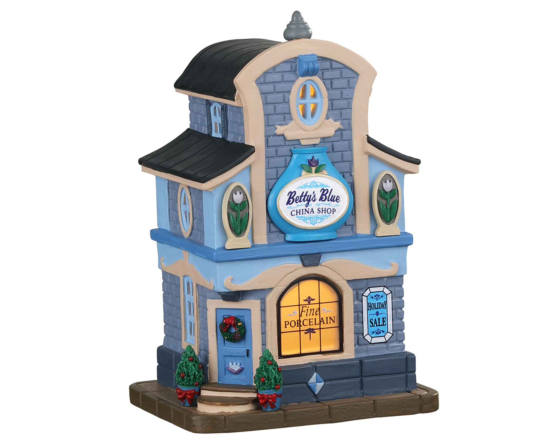 Lemax Village Collection Betty's Blue China Shop # 05676