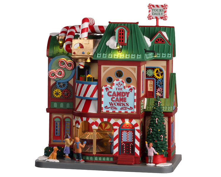 Lemax Village Collection The Candy Cane Works with Adaptor # 05681