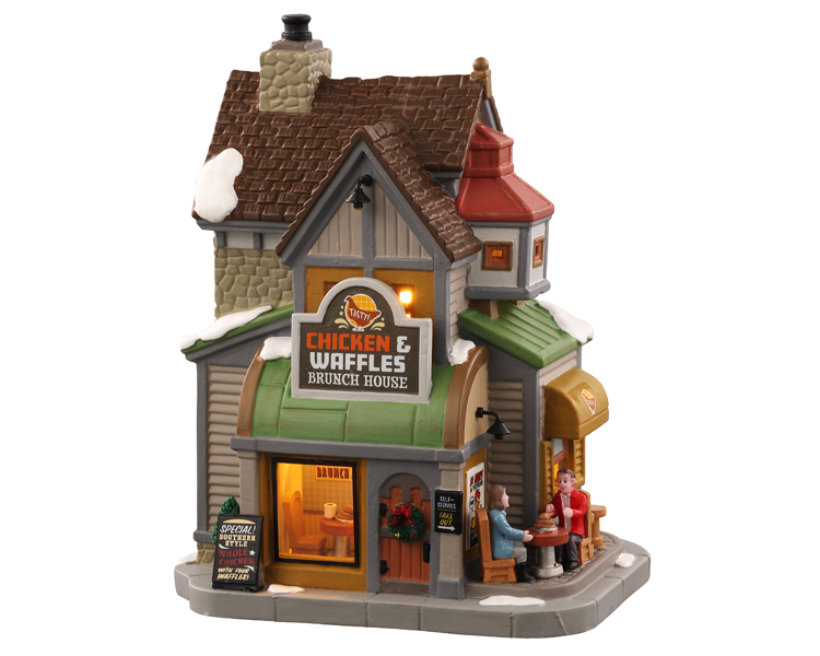 Lemax Village Collection Chicken & Waffles Brunch House # 05688