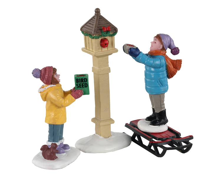 Lemax Village Collection The Bird Feeders Set of 3 # 12015
