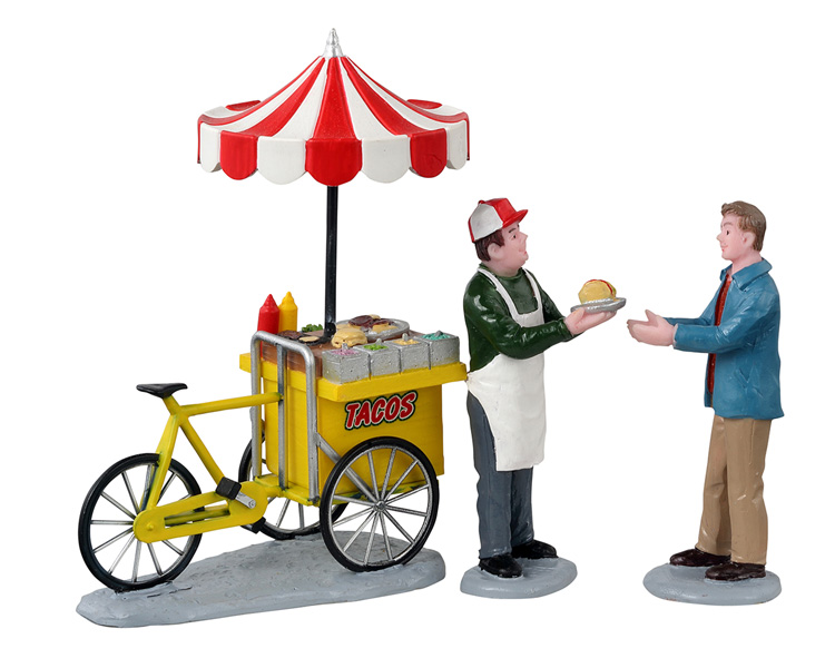 Lemax Village Collection Taco Cart Set of 3 # 12042