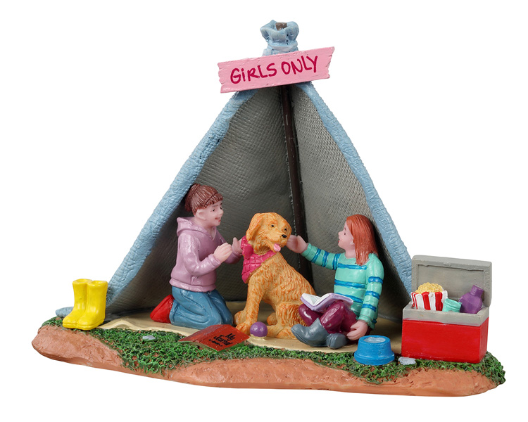 Lemax Village Collection Girls Backyard Camping # 13555