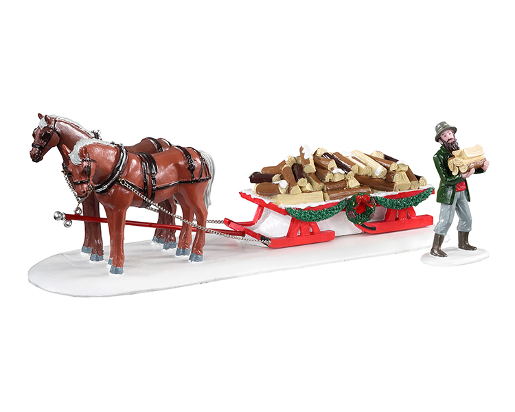 Lemax Village Collection Firewood Delivery Set of 2 # 13559