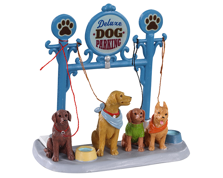 Lemax Village Collection Dog Parking # 13567