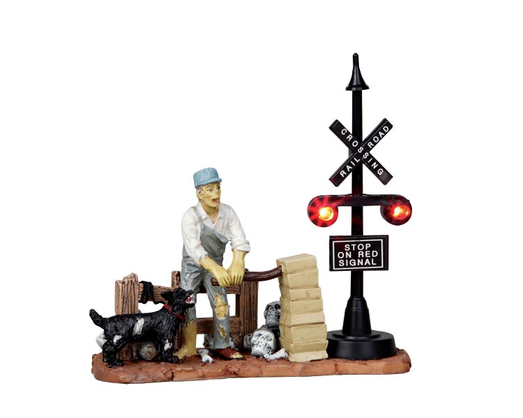 Lemax Spooky Town Railway Switchman Battery Operated # 14334