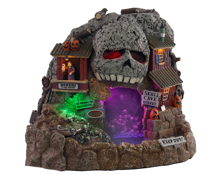 Lemax Spooky Town Skull Cave Quarry with Adaptor # 14822