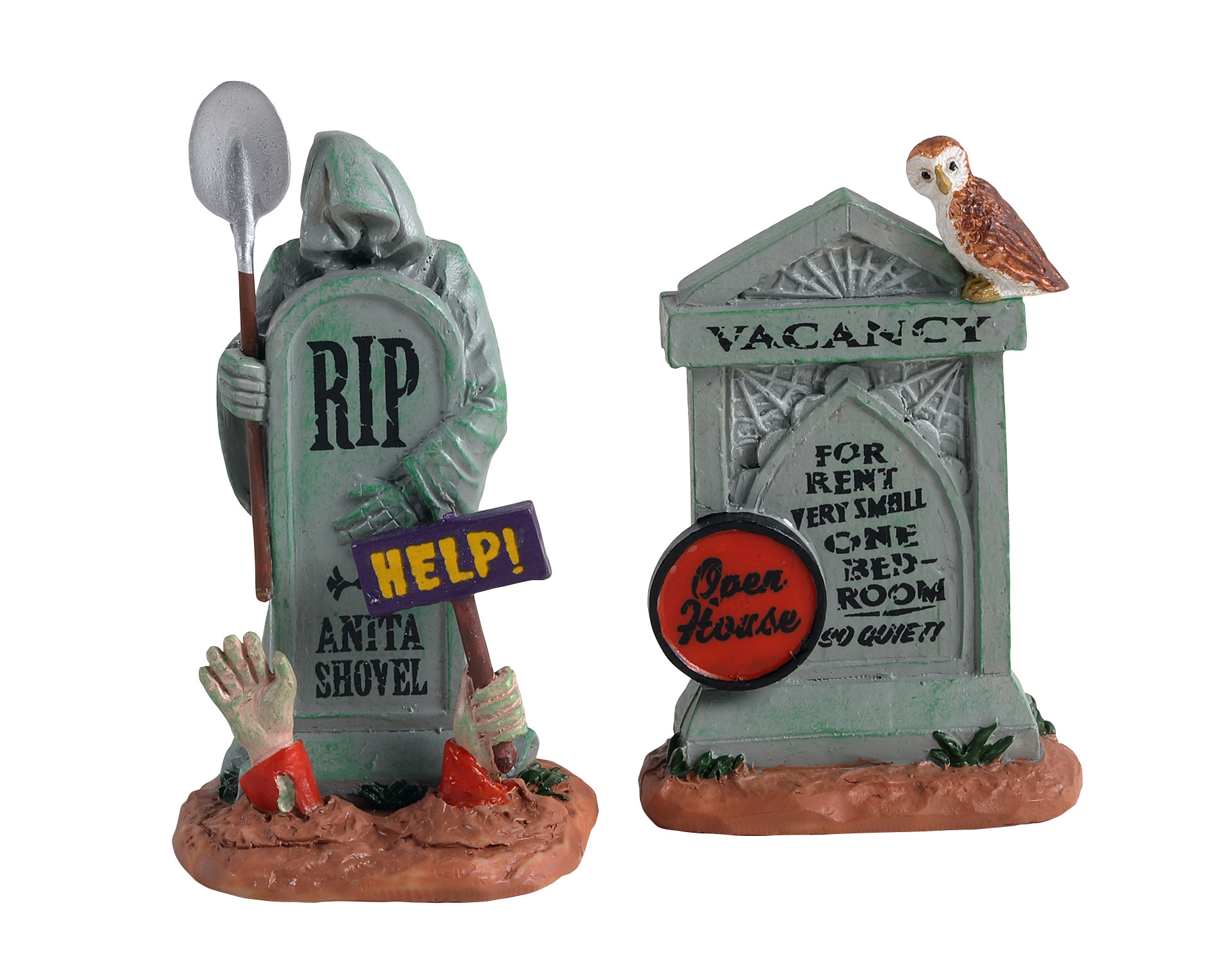 Lemax Spooky Town Tombstone Duo Set of 2 # 14831