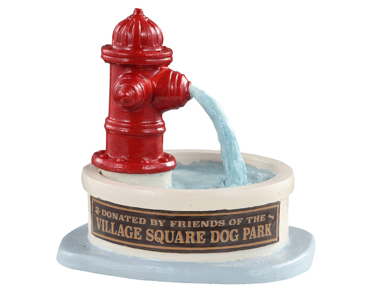 Lemax Village Collection Dog Park Water Fountain # 14843
