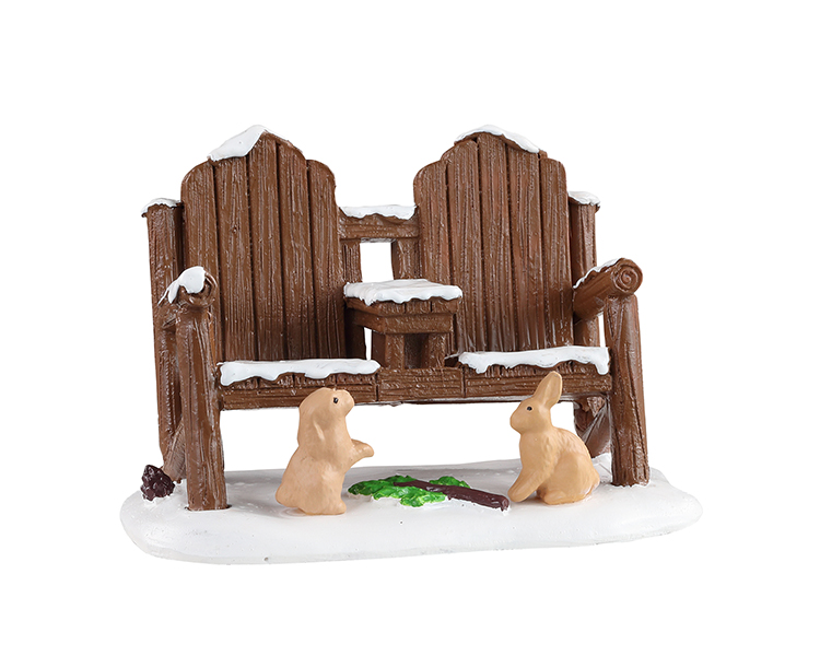 Lemax Village Collection Winter Adirondack # 14846