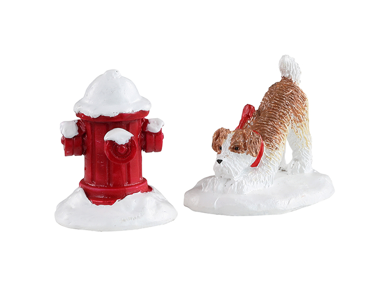 Lemax Village Collection Snow Hydrant Set of 2 # 14860