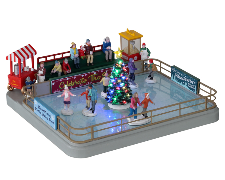 Lemax Village Collection Outdoor Skating Rink with Adaptor # 14871