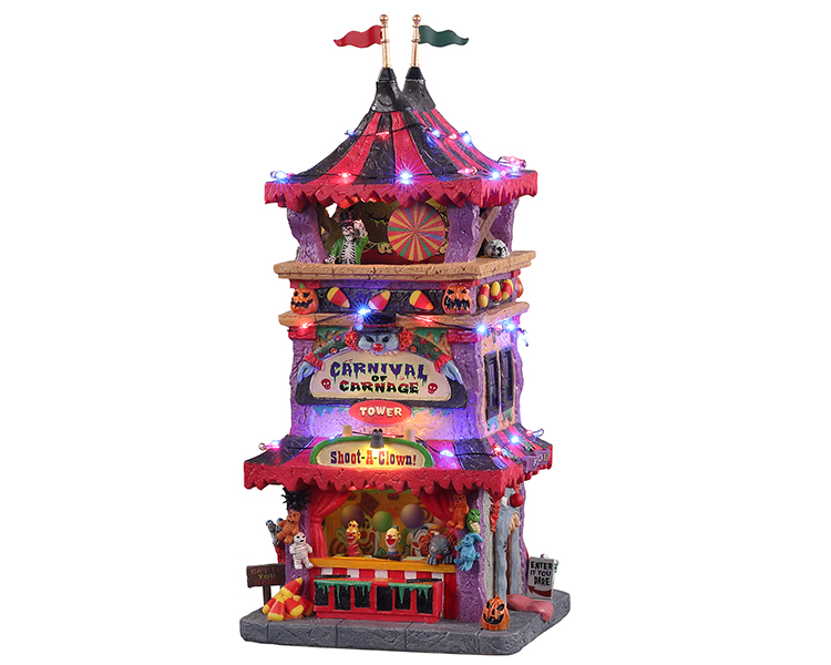 Lemax Spooky Town Carnival of Carnage with Adaptor # 15727