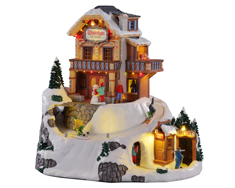 Lemax Village Collection Winterhaus Resort with Adaptor # 15735