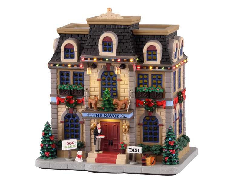 Lemax Village Collection Christmas at the Savoy with Adaptor # 15737