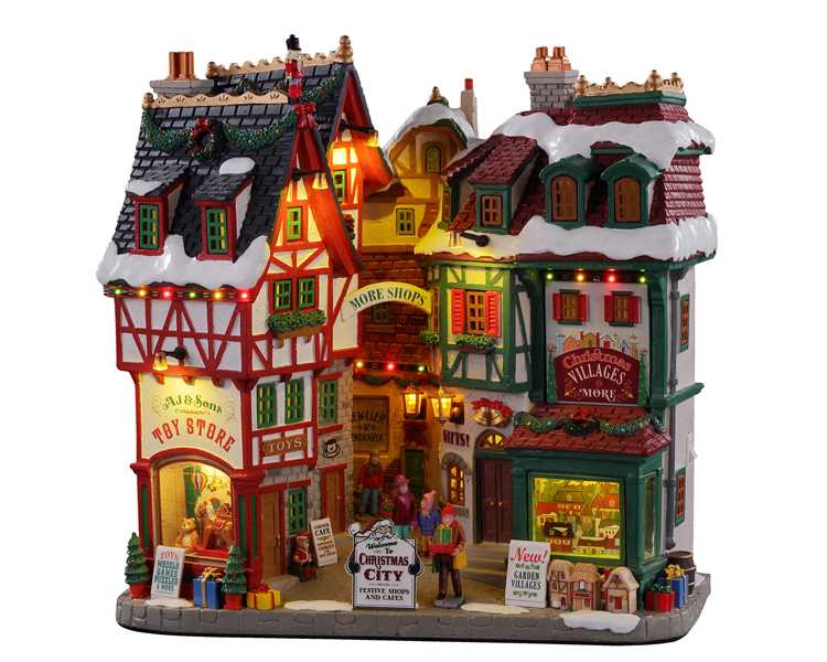 Lemax Village Collection Christmas City Battery Operated # 15739