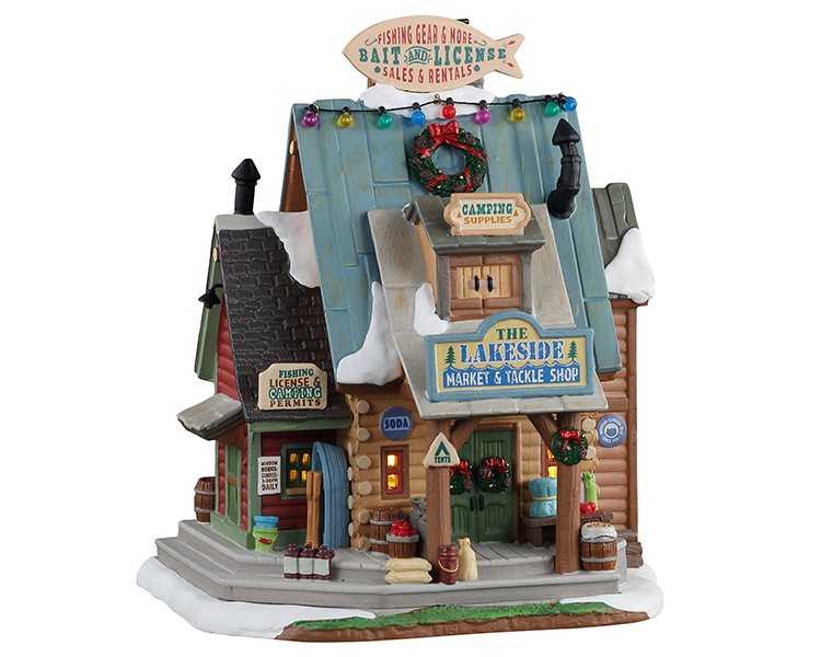 Lemax Village Collection The Lakeside Market & Tackle Shop # 15746